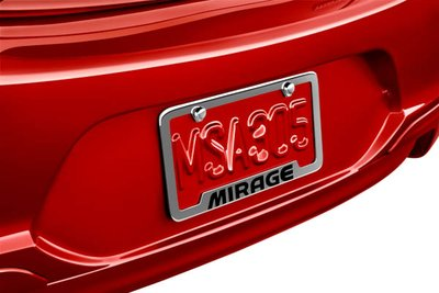 2018 Mitsubishi Mirage G4 License Plate Frame MZ314797