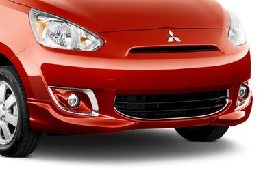 2015 Mitsubishi Mirage Front Bumper Garnish, Chrome MZ330456
