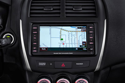 2012 Mitsubishi Outlander Sport Navigation and Music Server Display Unit