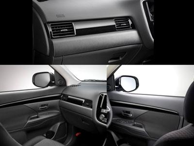 2017 Mitsubishi Outlander Accent Panels - Interior - Black