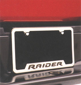 2006 Mitsubishi Raider License Plate Frame