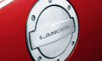 2009 Mitsubishi Lancer Alloy Fuel Door MZ314041